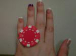 Poker ring in Vibrant Red.